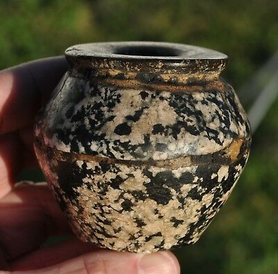 *** Vintage Egyptian Stone Jar Pot Vessel Vase ***