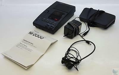Sony M-2000 Microcassette Transcription Dictation Recorder TESTED & WORKING