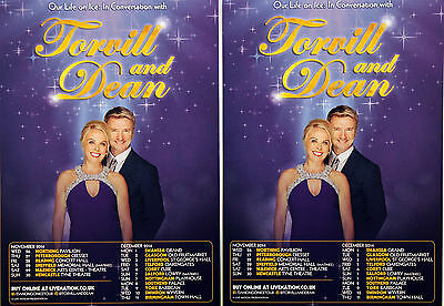 2 X Torvill And Dean Tour Flyers  Our Life On Ice Tour - Torvill & Dean