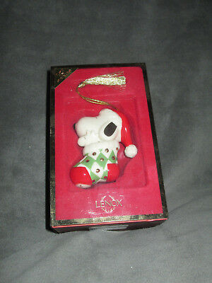 Peanuts Snoopy in Stocking Lenox Ornament 1st In Series Christmas New