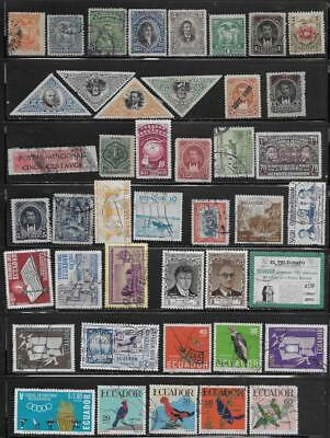 43 Ecuador Stamps from Quality Old Albums