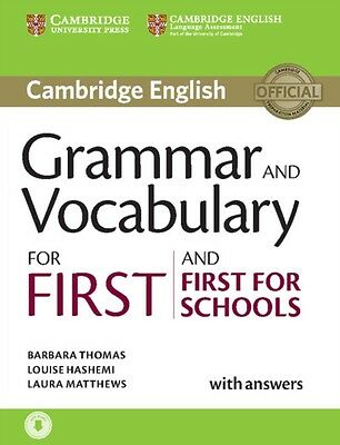 Grammar and Vocabulary for First and First for Schools Book with Answers and Au.