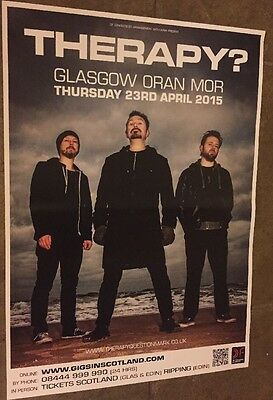 Therapy? -  gig poster, Glasgow- April 2015