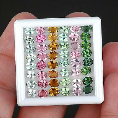 VVS 14.90 Cts/48 Pcs [Certified] Natural Tourmaline AAA Quality High End Jewels