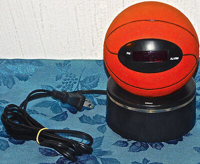 Disney BASKETBALL BALL SPORTS Digital Alarm Clock Fantasma Works Great RARE TIME