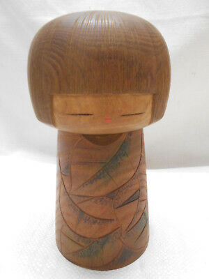 Kokeshi Japanese Doll Vintage Wooden Doll Creative Style Handpainted Carved #463