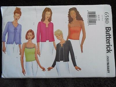 Butterick Fast & Easy Petite Cardigan & Top Pattern 6580 Size 6 8 10