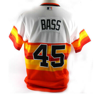 Houston Astros 1979 Throwback Anthony Bass #48 Game Issued Possibly Used  Jersey