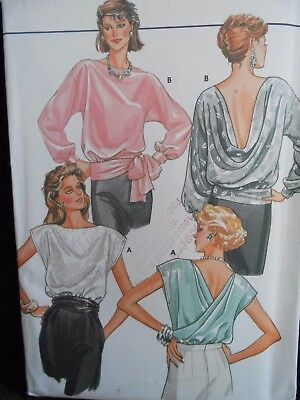 Butterick Loose Fitting Pull Over Blouse Pattern 6958 Size 12