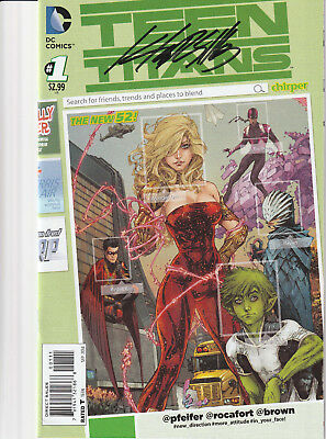 teen titans #1 signed Kenneth rocafort