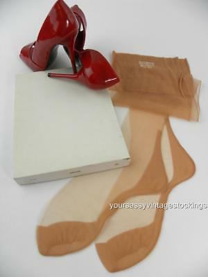 SASSY 3 Pr 51/15 SUN TONE SEAMED FF Vintage Nylon Stockings  9.5/33""