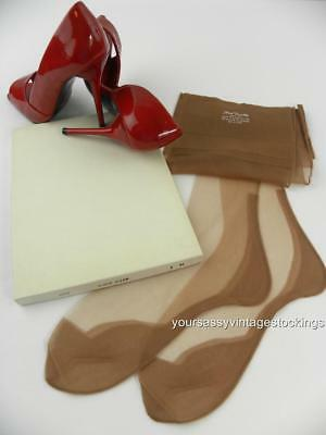 SASSY 3 Pr 66/15 BLUSH GLEAM SEAMED FF Vintage Nylon Stockings  9/32""