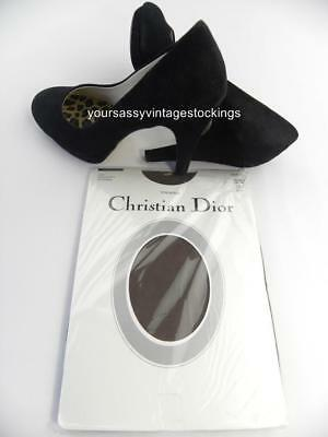 SASSY 2 Pr C. DIOR FRENCH TAUPE SANDALFOOT Vintage Nylon Stockings  8.5/29.5""
