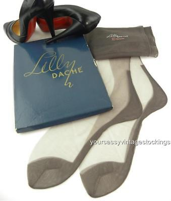 SASSY 2 Pr LILLY DACHE 51/15 LORELEI SEAMED FF Vintage Nylon Stockings  10/32""