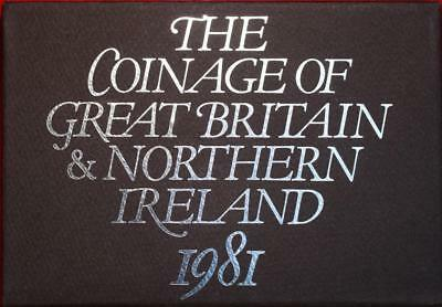 Uncirculated 1981 Coinage Of Great Britain & Northern Ireland Proof Set Free S/H