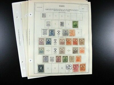 HAITI stamps 19th/20th century on Minkus pages  G870