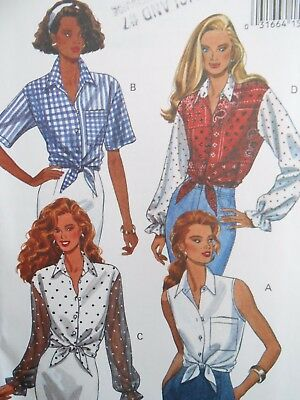 Butterick Fast & Easy Top - Shirt Pattern 6661 Size Xs S M