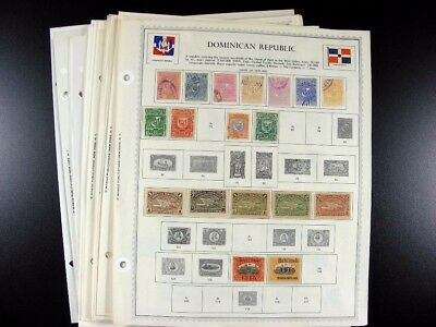 DOMINICAN REPUBLIC Stamps on Minkus pages including Early  G874