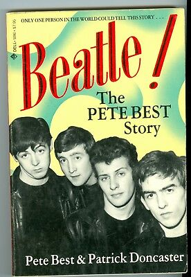 BEATLE! The Pete Best Story autographed hand signed paperback book The Beatles