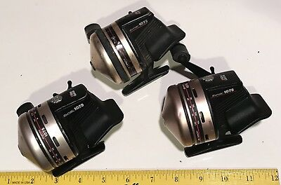 X3 Abu Garcia Abumatic 1075 Spin cast Reel Vintage 2 Nice  1 Beat All Work Japan