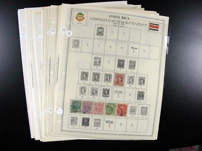 COSTA RICA stamps on Minkus Pages including Early  G873