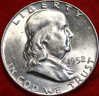 Uncirculated 1952-D Denver Mint Silver Franklin Half Free Shipping