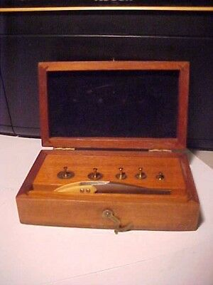 Vintage Seederer Kohlbusch Apothecary Scale Calibration Weight Set In Wood Case