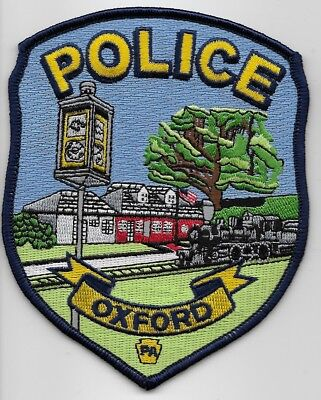 Train! OXFORD Police State of North PENNSYLVANIA PA Shoulder Patch