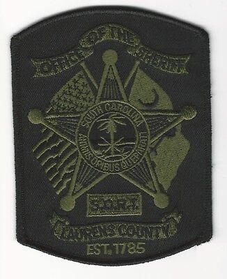 SORT Subdued LAURENS County Sheriff State South Carolina SC Shoulder Patch SWAT
