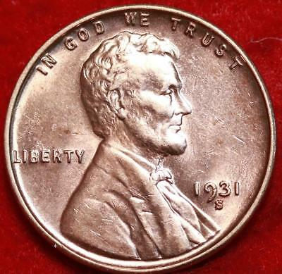 Uncirculated 1931-S San Francisco Mint Copper Lincoln Wheat Cent Free Shipping