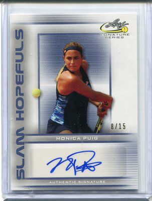 2017 Leaf Signature Series Monica Puig Slam Hopefuls Blue Auto #ed 8/15