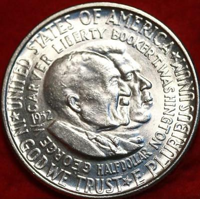 Uncirculated 1952 Washington Carver Silver Comm Half Free S/H