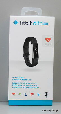 **NEW SEALED** Fitbit Alta HR Fitness Tracker/ Black/ Large
