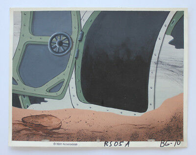 Ren & Stimpy Marooned Production Background Cel Cell And Animation Space Madness