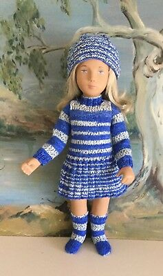 Sasha Dolls hand knitted Set (clothes only)  By Kath Barnett
