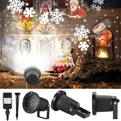 12 Patterns Moving Laser Landscape Projector LED Light Xmas Lamp Party Outdoor