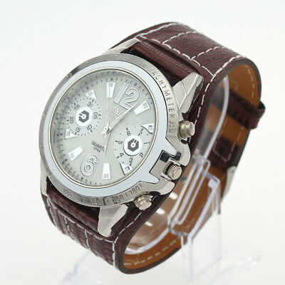 NEW Perfect Unisex Synthetic Leather Quartz Wrist Watch For Gift U5Z