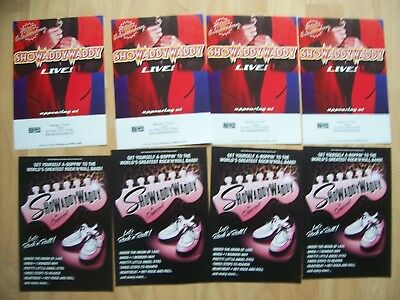 8 flyers 2 different Showaddywaddy concert at Camberley and tour 2017