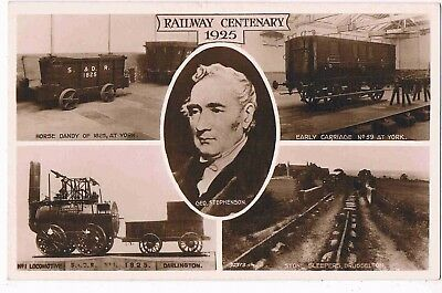 Railway - R/p - Multiview Of The Railway Centenary 1825 - 1925