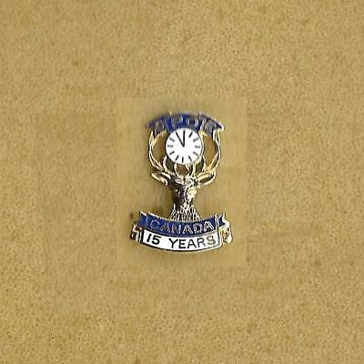 Benevolent and Protective Order of Elks Canada BPOE 15 Years Small Old Pin Screw