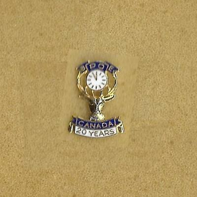 Benevolent and Protective Order of Elks Canada BPOE 20 Years Small Old Pin Screw