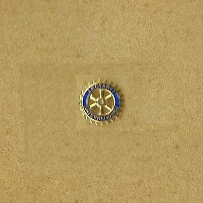 Rotary International Service Small Enamel Gold Pin Old