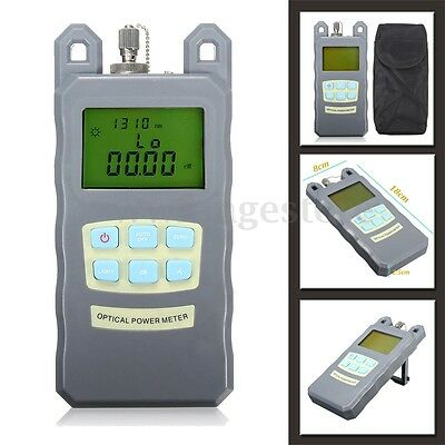 AUA-70A Fiber Optic Cable Tester Power Meter Square Port SC Network Portable