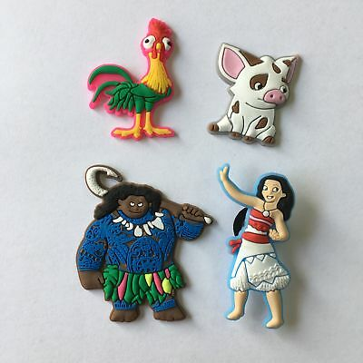 4pcs/lot Moana PVC Shoe Charms Accessories fit in Shoes & Bracelets Gifts