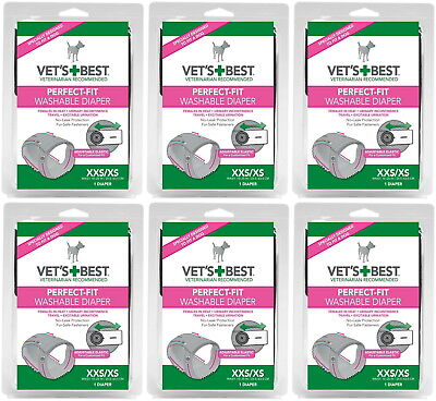 Vet's Best Perfect-Fit Washable Female Diaper XXS / XS 6pk
