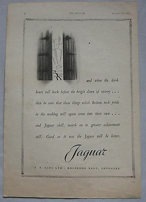 1942 Jaguar Original advert No.2