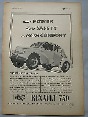 1951 Renault 750 Original advert No.1