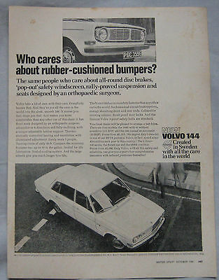 1967 Volvo 144 Original advert