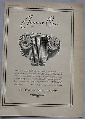 1942 Jaguar Original advert No.1