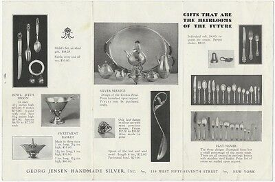 1920s-30s Georg Jensen New York Silver Hollowware and Flatware Brochure